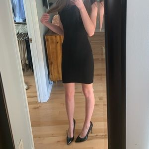BAR lll BODYCON BLACK DRESS